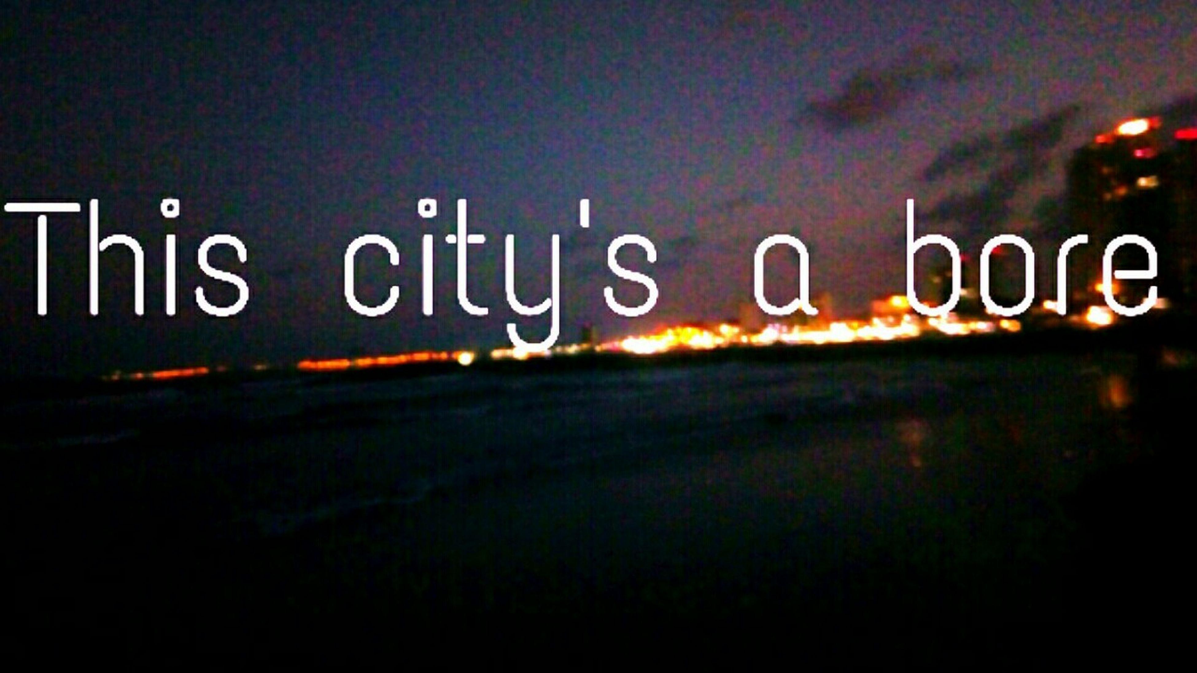 text, western script, communication, no people, illuminated, close-up, outdoors, short phrase, night, sky, formula
