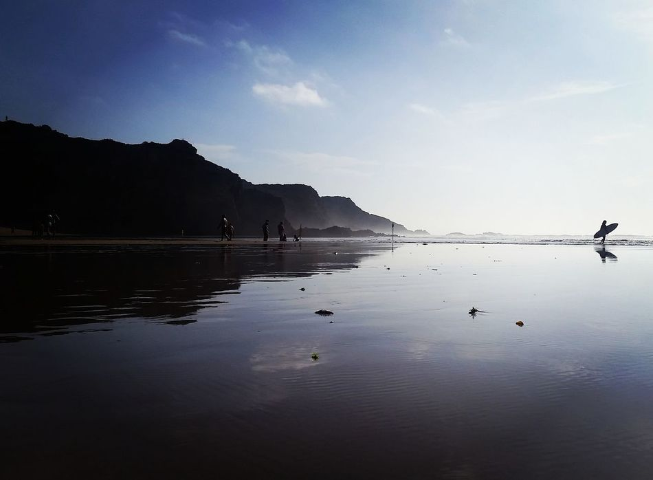 Roadtofreedomvm Beach Water Beachphotography Reflection Surf Beauty In Nature Odeceixe Portugal Calm Nature