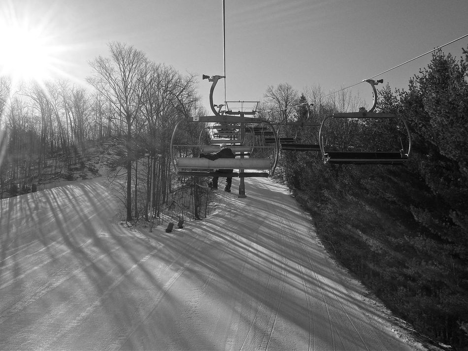 snowboarding Chair Lift Cold Day Forest People Resort Shadow Ski Skiing Snow Snowboarding Sport Sports Trees Winter