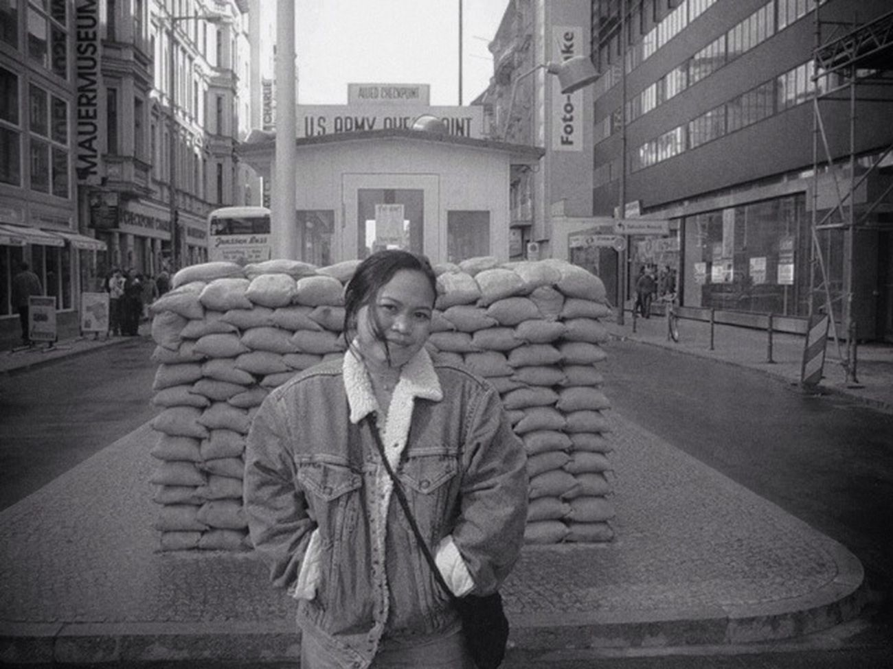 Blackandwhite Throwback Berlin Checkpointcharlie