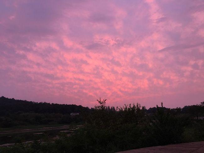 익산 금마 조각공원 서동공원 야경 구름 석양