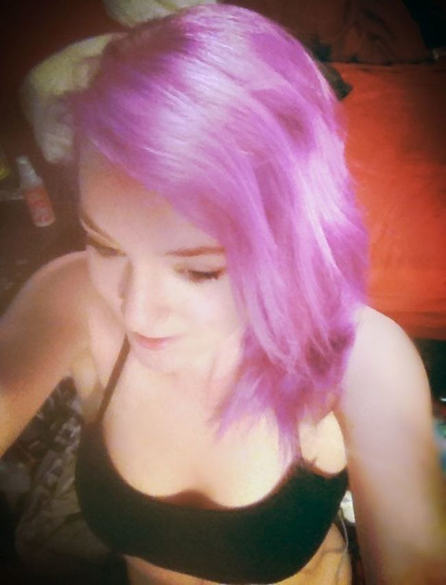 Check This Out Purple Hair Dont Care Lolwut