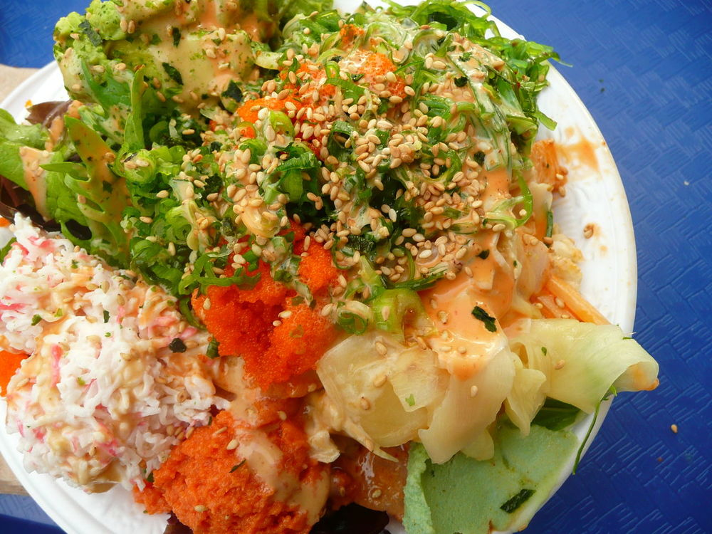 poli bowl with avocado,crab,ginger Asian Food Close-up Cookbook Cuisine Day Food Food And Drink Freshness Garnish Hawaiian Food Healthy Eating Indoors  Japanese Food Meal No People Nutrition Pickled Ginger Plate Poki Ready-to-eat Recipe Photo Seafoods Serving Size Street Food Worldwide Travel Photography