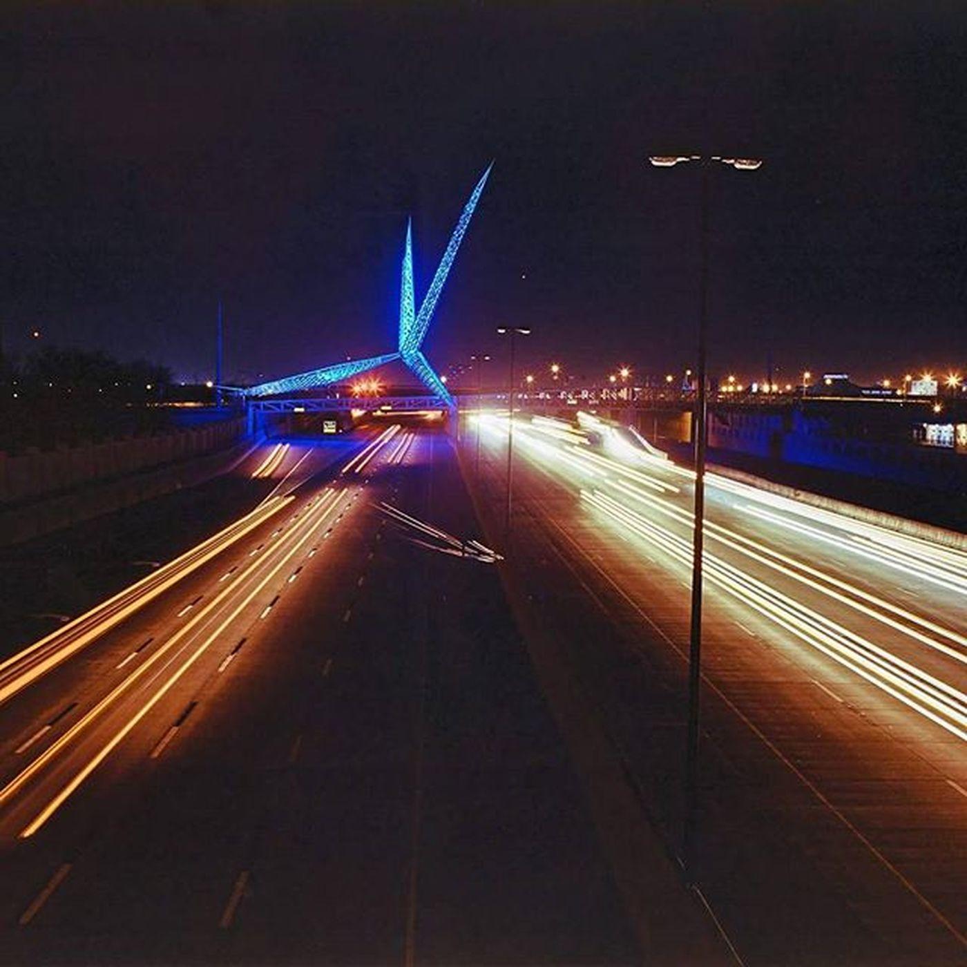 Skydance Oklahoma Oklahomacity Mamiya Rz67 Kodak Film Longexposure Night Lighttrails I40