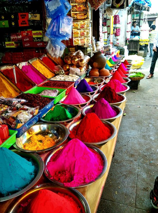Colors of Indian market Colorful India Market Streetphotography Travel On The Road Vanishing Point Check This Out Festival