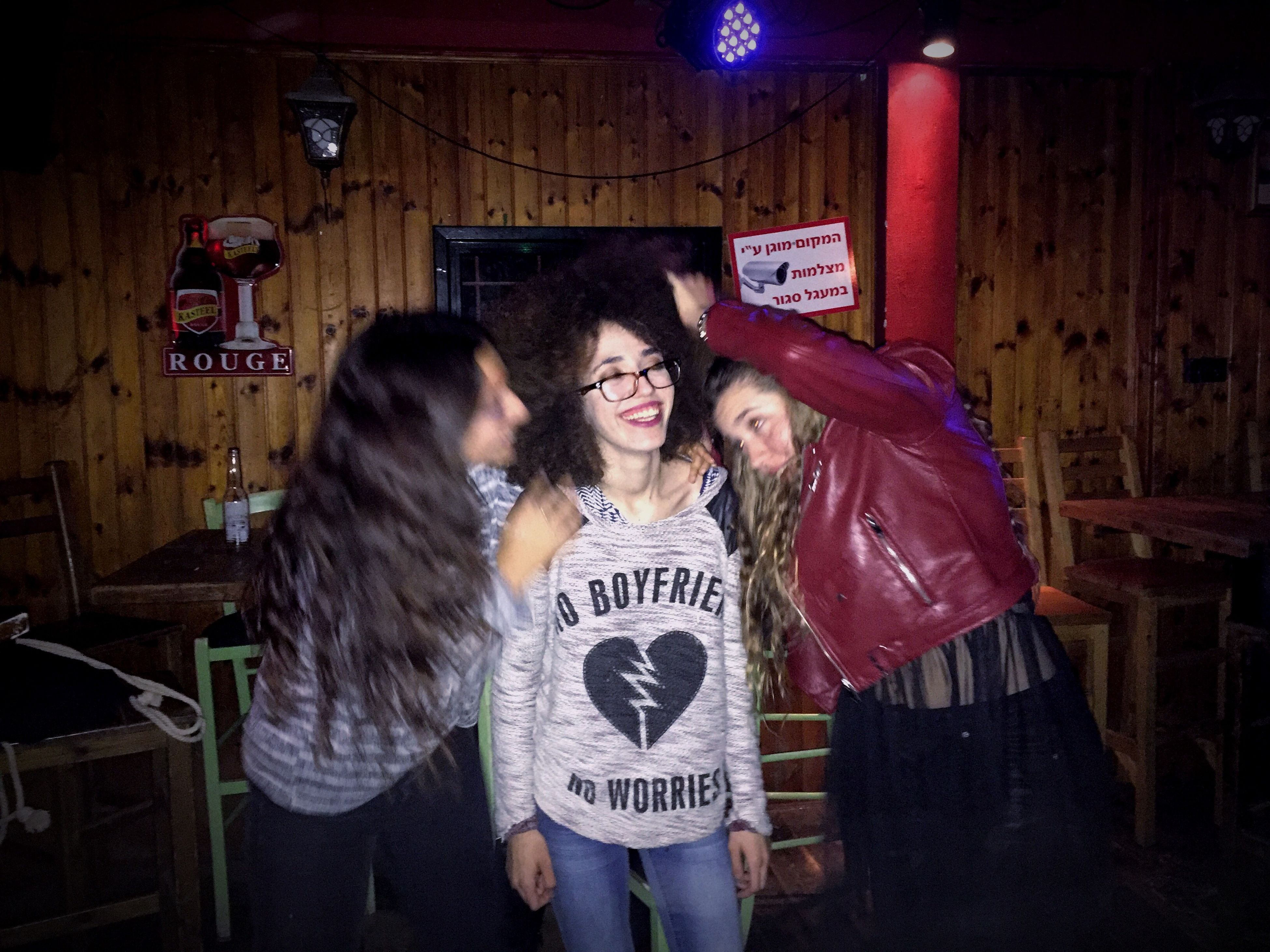 two people, young men, young adult, portrait, friendship, adults only, young women, happiness, people, night, indoors, togetherness, nightlife, adult