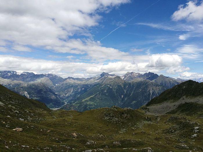Mountain Mountain Range Cloud - Sky Sky Landscape Pine Tree No People Vacations Italy Valtellina Valmalenco