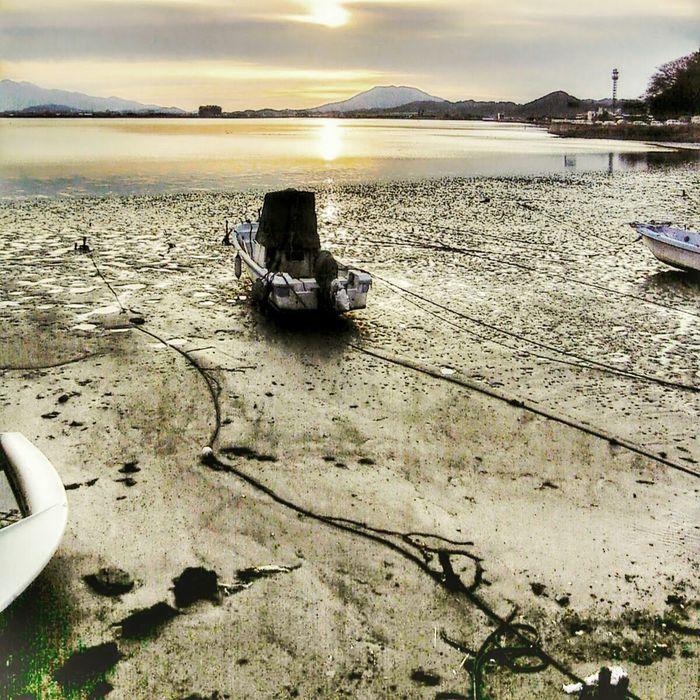 Imajuku Tidal Basin Sunset Fukuoka 2006 Cellphone Photography Phoneography