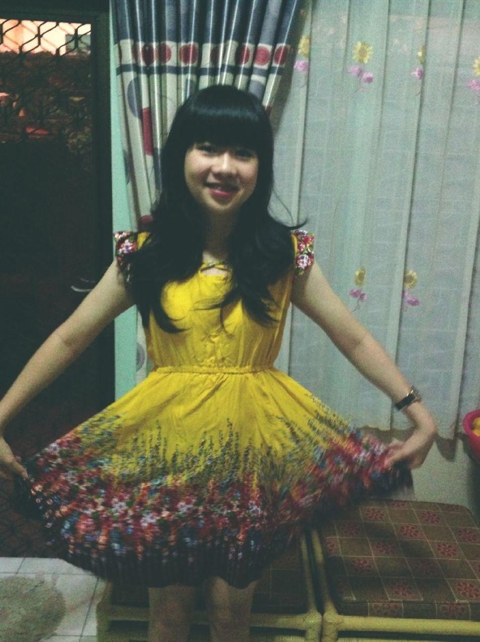 Dress Partyyyyy Yellow Flower, Yellow Dress Yeayea