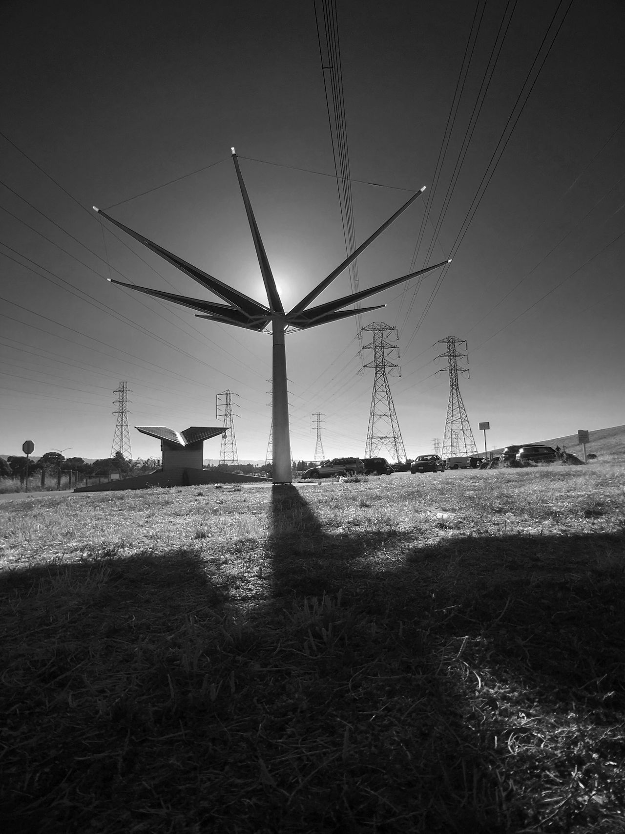 Hidden Gems  Blackandwhite Shadows & Lights Shillouette Sky Electricity Tower Sculpture Flower
