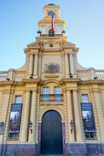SANTIAGO, CHILE - MAY 26: Facade of the National Museum located in Santiago, Chile on May 26, 2014 Architecture Architecture Building Exterior Built Structure Chile City Clear Sky Day Latin America Museum National National Museum No People Outdoors Santiago Santiago De Chile Sky South America Tourism Travel Travel Destinations
