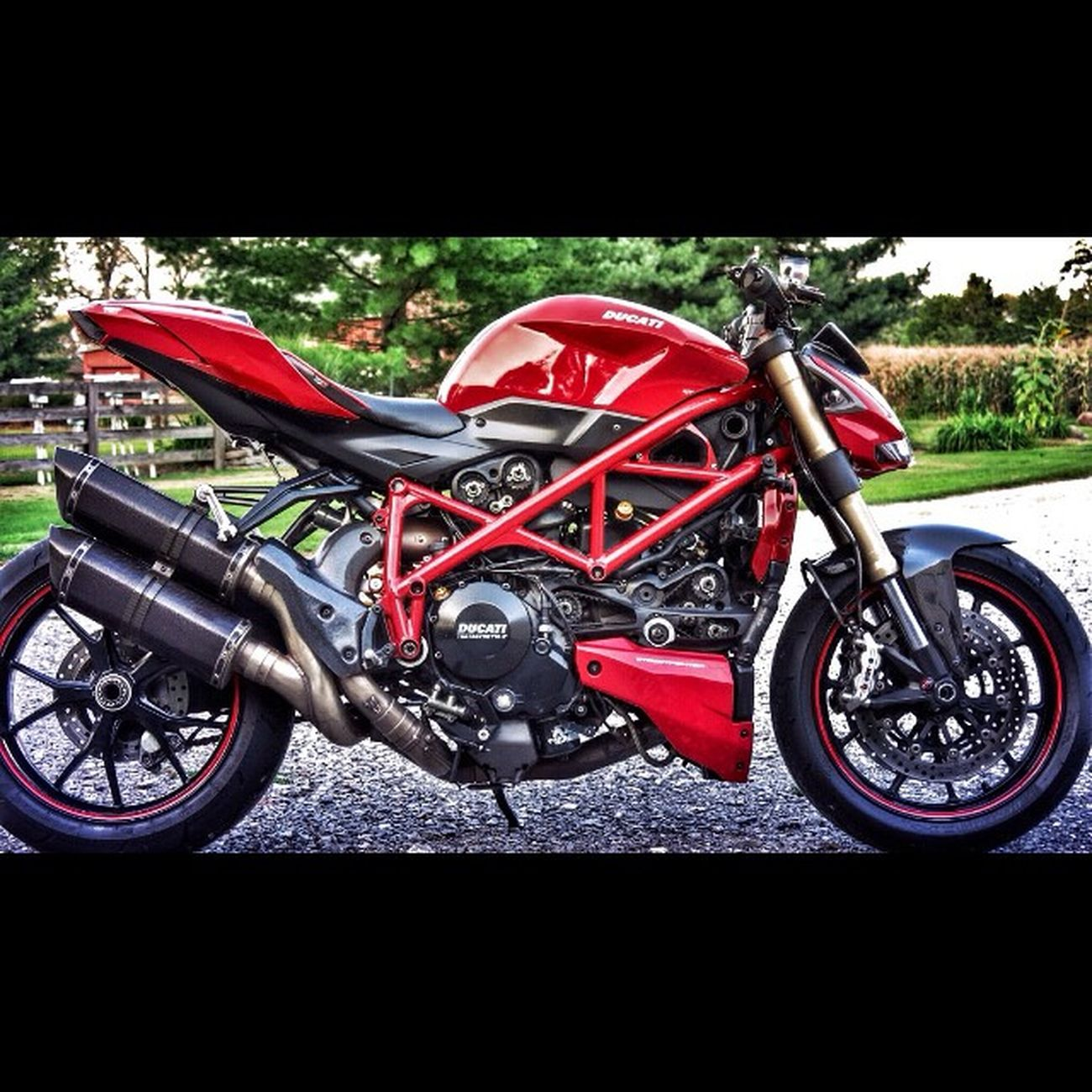 Queen Ducati Ducatistreetfighter Motorcycle Brembo  akrapovic testastretta2 rizoma red cnc belts open compwerkes ohlins sargent cutaway mwr