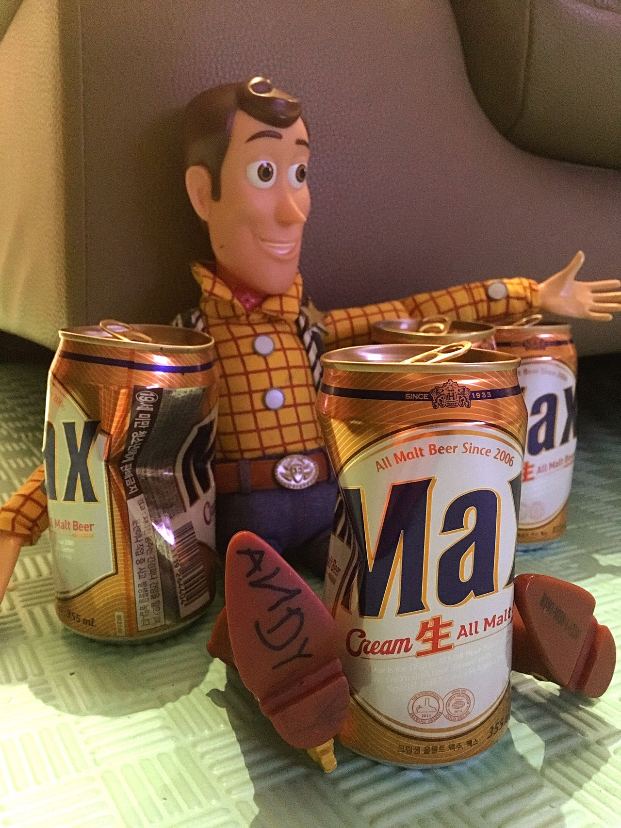 EyeEmNewHere Indoors  ToyStory3 Woody Figure Doll Toys Beer Drunken