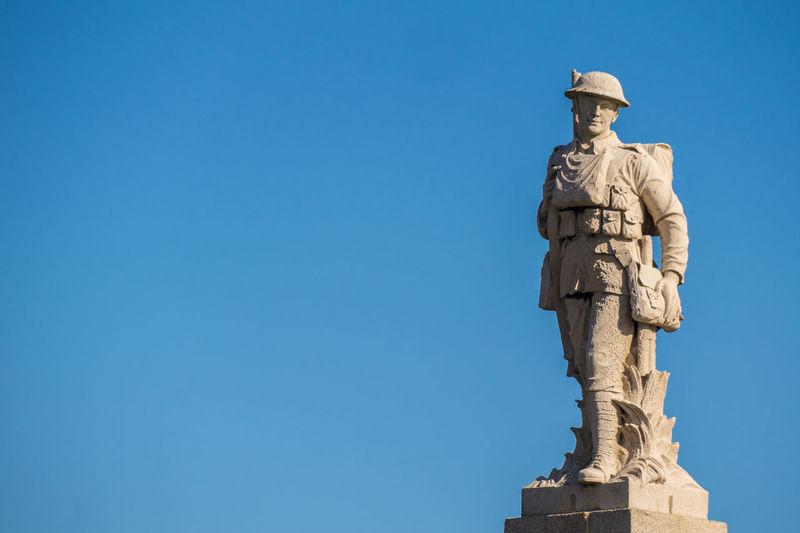 Soldier War Memorial Blue Sky Cenotaph Douglas Isle Of Man Statue World War First Eyeem Photo