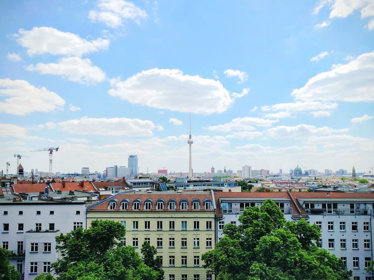Cityscape City High Angle View Urban Skyline Cloud - Sky My Fuckin Berlin Berlin Berliner Ansichten Auf Den Dächern Einer Stadt Travel Destinations Live For The Story BYOPaper!
