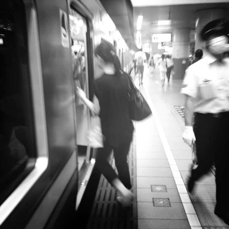 Ordinarily day Train Station Black And White Ordinary Day