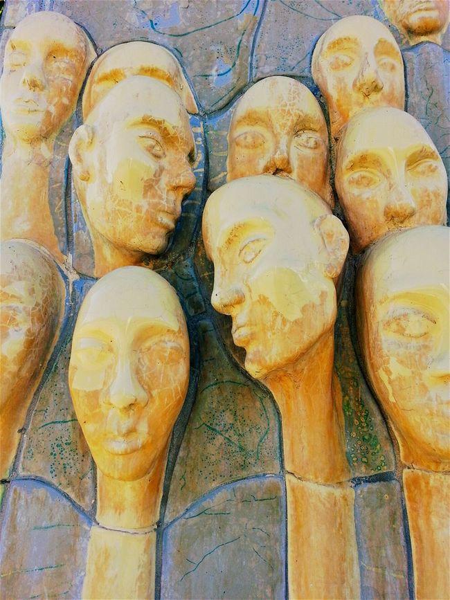 Faces Goztepe Ozgurluk Parki Göztepe Istanbul Turkey Turkish Sculpture Art Paris