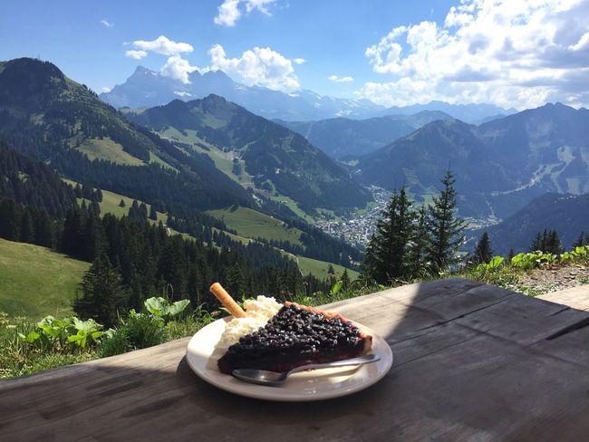 Mountains Hiking Alps Landscape View Chatél Blueberries