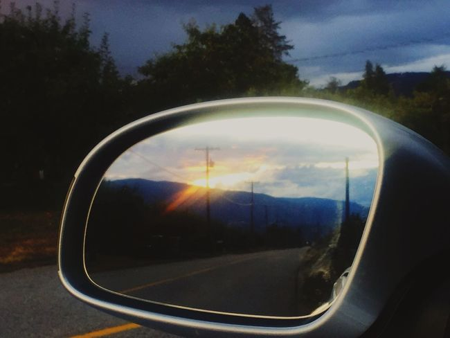 Reflection Side-view Mirror Transportation Tree Sunset Sky Road Close-up Orange Color Nature Sun Non-urban Scene Outdoors Cloud - Sky Memories Beauty In Nature EyeEm Best Shots Man In The Mirror EyeEm Best Shots - Nature Sunlight Beautiful Light Shadow Transportation Volkswagen Beetle