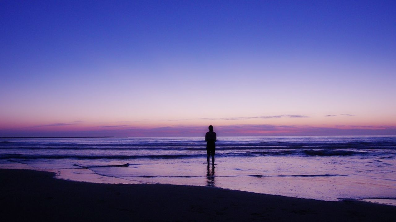 Beautiful stock photos of peace, Beach, Beauty In Nature, Blue, Copy Space