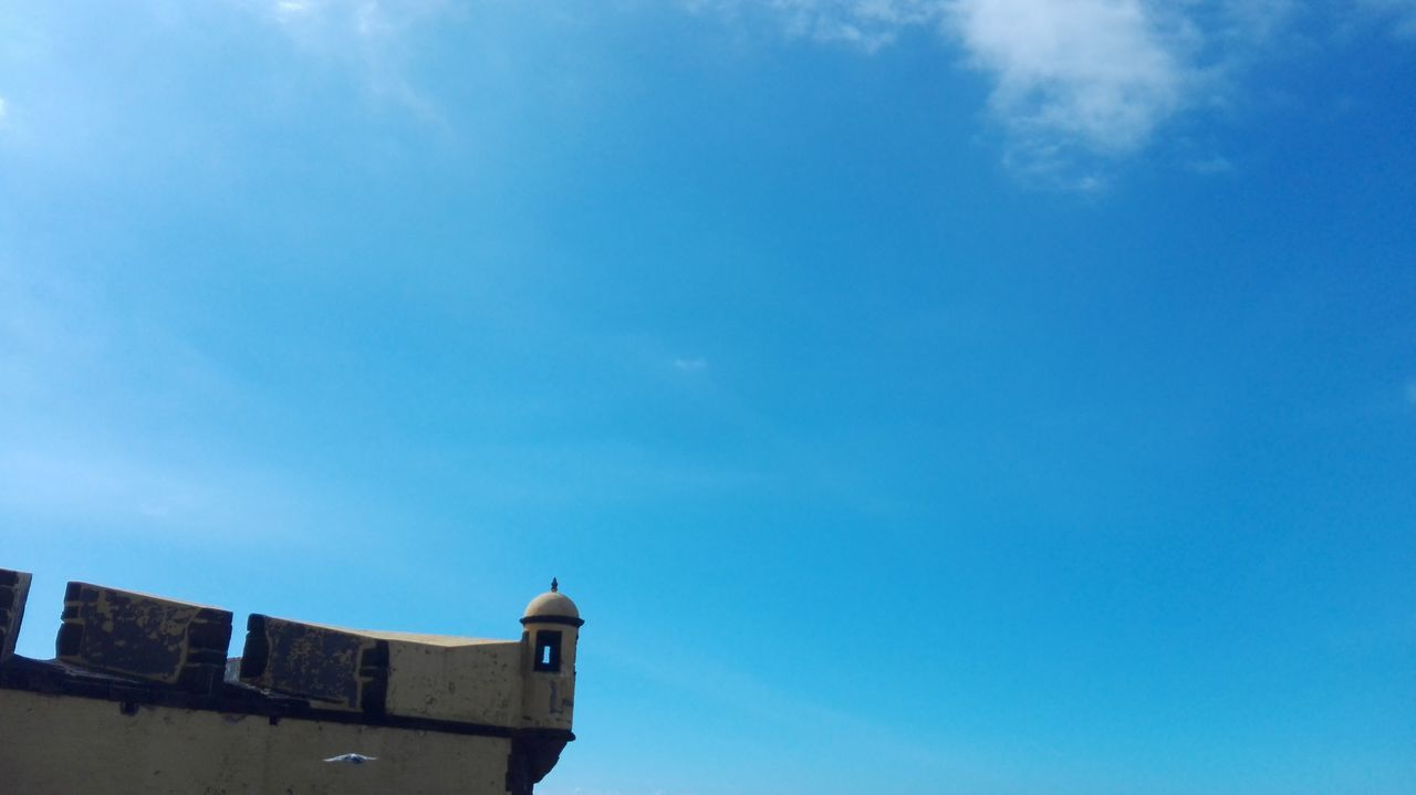 Architecture Building Exterior Built Structure Outdoors Day Low Angle View Blue Sky Roof Cloud - Sky No People Clock Bird Clock Face