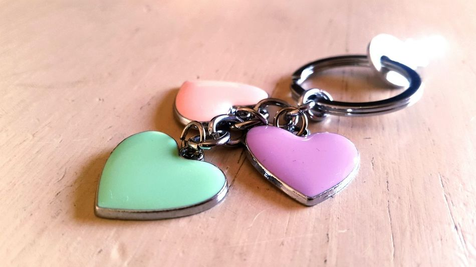 Ring Colors Heart Heartshape Heartshaped Heart Shape Little Key Keychaincollection Hearts Key Keychain Just For One Key  Keychain Collection Keychains  Keychain No People