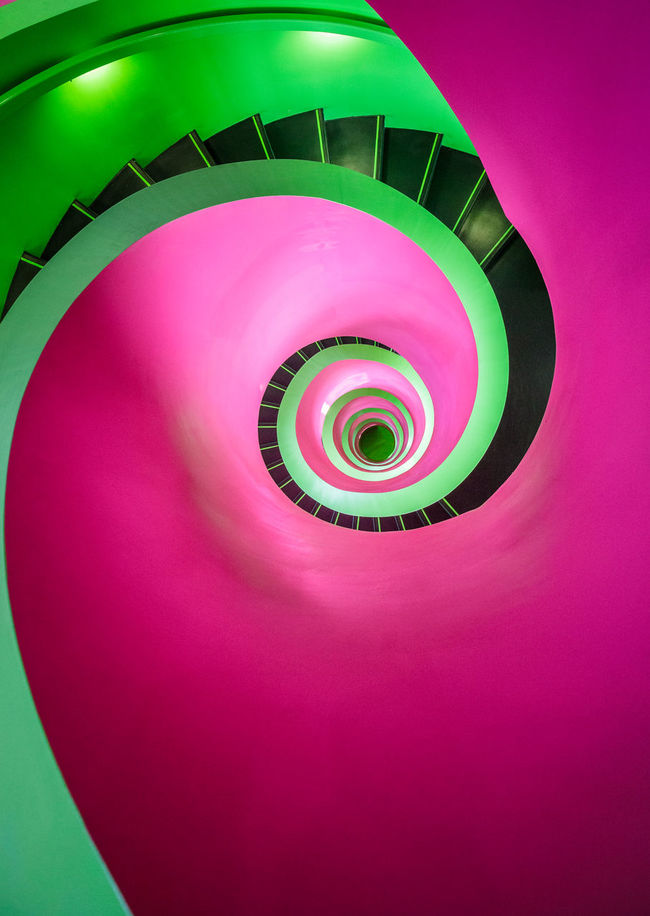 Some crazy colors in the library of the Cottbus University. Definitely check it out if you are there! Architecture Architecture_collection Building Story Built Structure Campus Circle Coil Colorful Cottbus Cottbus Library Curve Deutschland Deutschland. Dein Tag Geometric Shape Green Color Indoors  Library Multi Colored No People Pink Color Red Spiral Student University Vibrant Color
