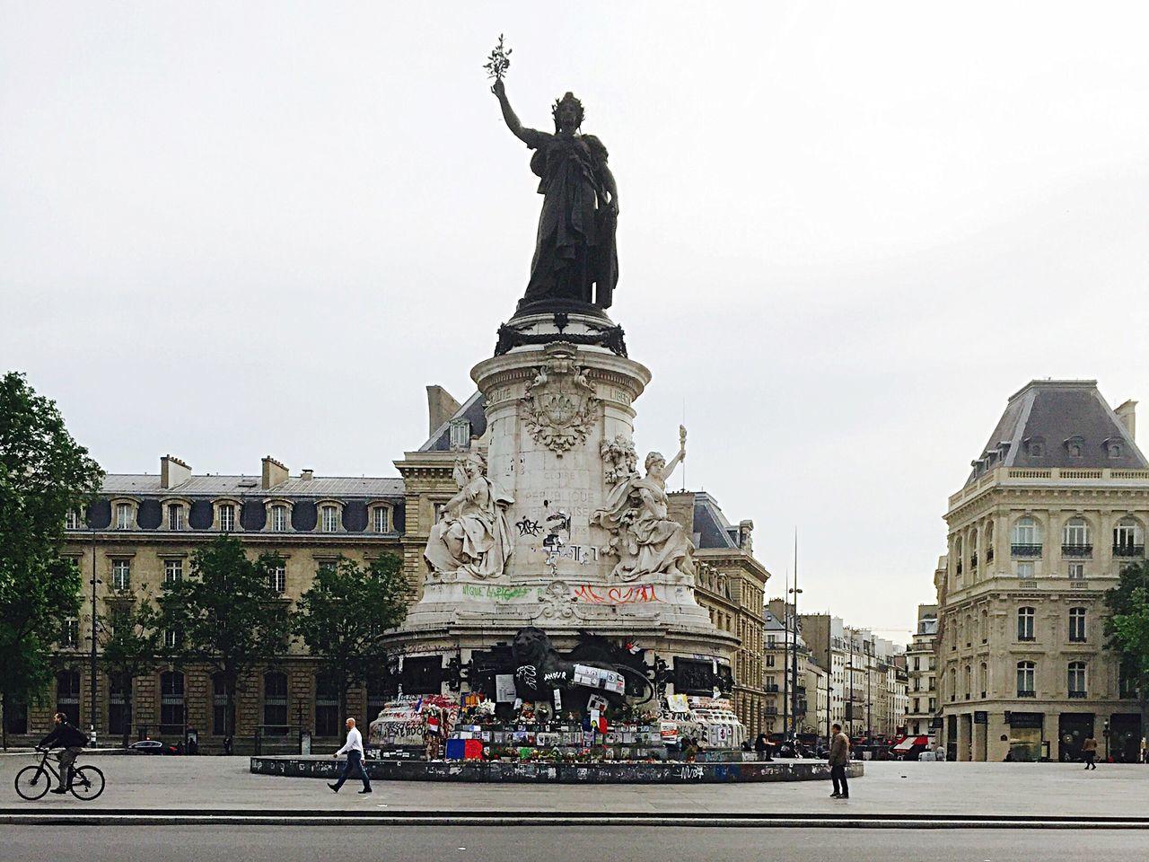 Feel The Journey Paris place de la République Enjoying Life Streetphotography Street Photography Urban Landscape Urbanphotography City Life Cityscapes France People And Places Famous Places