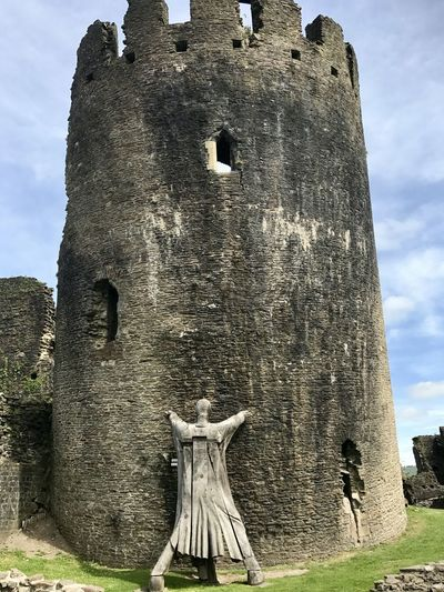 Caerphilly Castle, Castle Tower Wales Wales UK