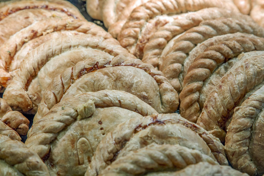 Cornish Pasties on sale in a shop display in Padstow Cornish Pasty Cornish Pastie Close-up Day Food Food And Drink Freshness Healthy Eating Indoors  No People Puff Pastry Quality Tradition
