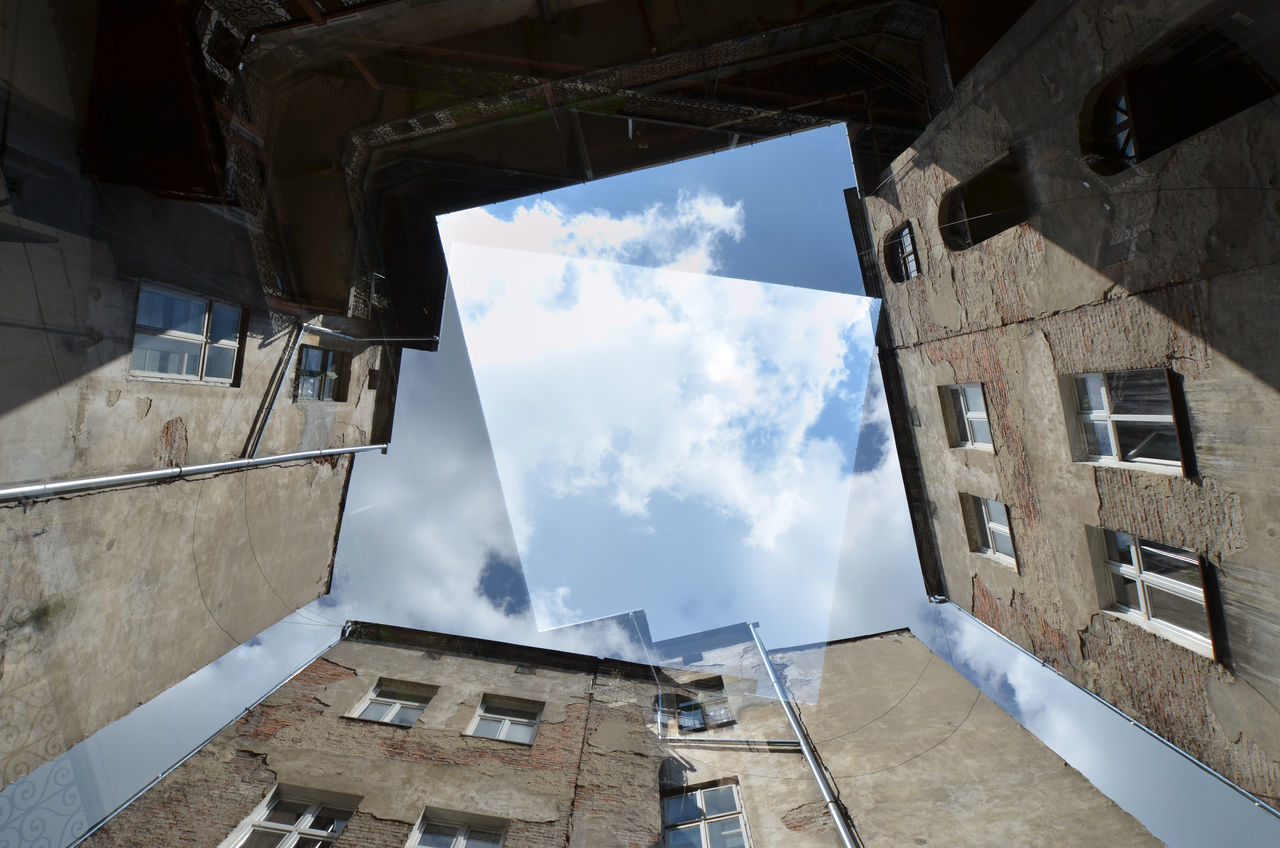 Architecture Berlin Berliner Ansichten Building Building Exterior Built Structure Cloud Cloud - Sky Day Directly Below Hinterhof Low Angle View No People Outdoors Sky Window The City Light