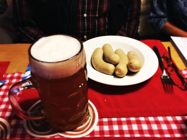 Food And Drink Freshness Drink Indoors  Refreshment Food Table Coffee Cup Coffee - Drink Still Life Ready-to-eat Indulgence Close-up Serving Size Appetizer Temptation No People Germany Weisswurst Beer Bayern Wurst Kartoffelsalat