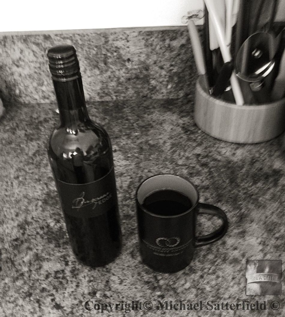 Coffee Or Wine Hanging Out Blackandwhite