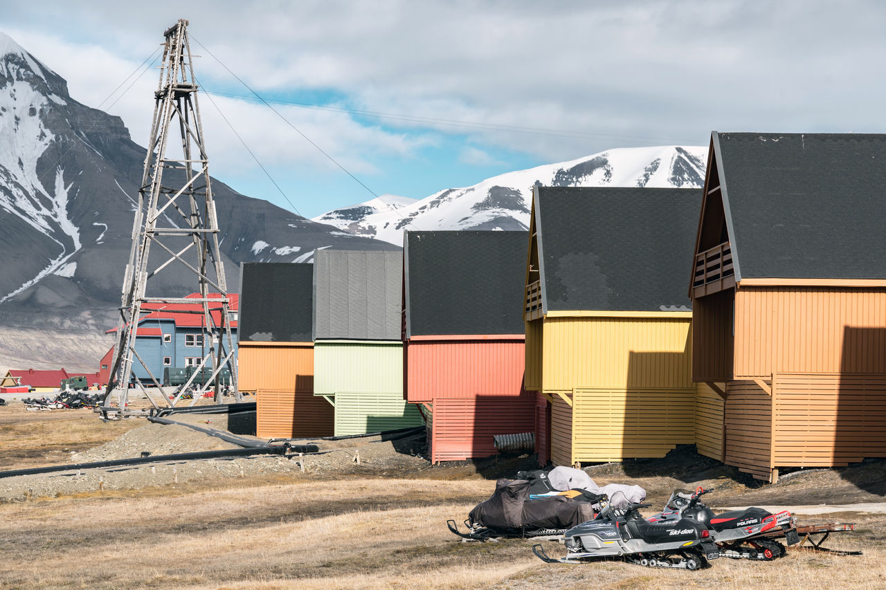 Colorful houses in Longyearbyen, Svalbard Elg Global Warming Ice Isolated Longyearbyen Moose Norway Raindeer Abandoned Arctic Day Glacier Global Seed Vault Mining No People North Outdoors Svalbard  Been There.