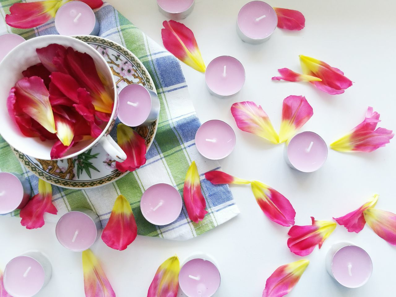 Celebration Variation Indoors  Flower Petals🌸 Tea Time Crocery Composition Pink Color Homeless Large Group Of Objects Abundance Multi Colored Party - Social Event Confetti Close-up No People White Background Day Millennial Pink