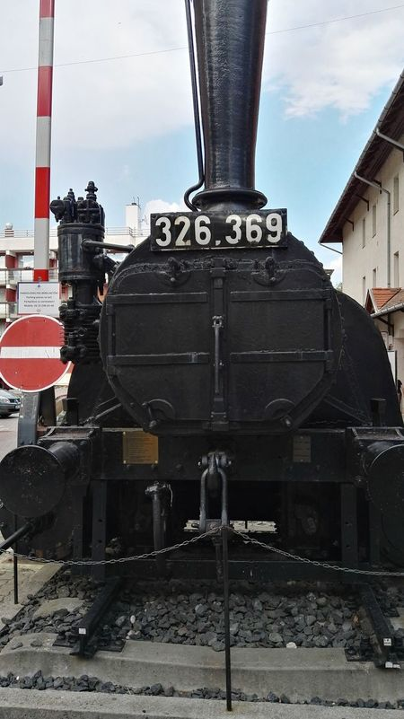 Architecture Building Exterior Built Structure Close-up Day Locomotive Metal No People Outdoors Rail Transportation Railroad Track Sky Steam Train Technology Train - Vehicle