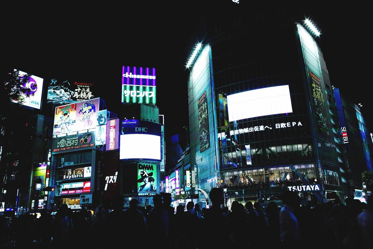 Large Group Of People Crowd Illuminated Night Architecture Nightlife Outdoors Men Real People Women Travel Destinations Building Exterior People City Neon Sky Adult Adults Only Crossing The Street Nightphotography EyeEm Best Shots Night Lights Night Photography Shibuya Built Structure