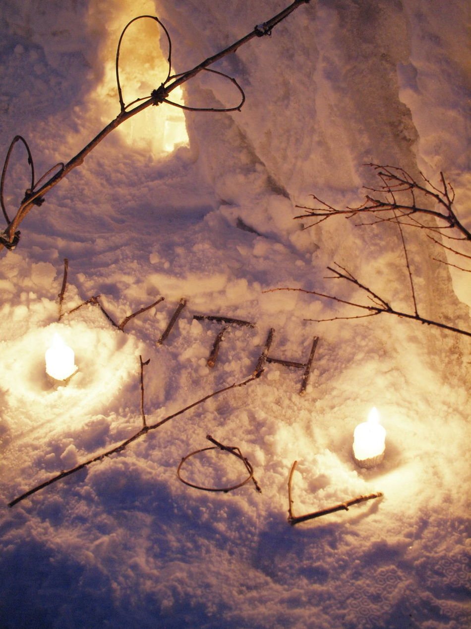 Otaru Snow Snow Candles Snowlight Winter With You
