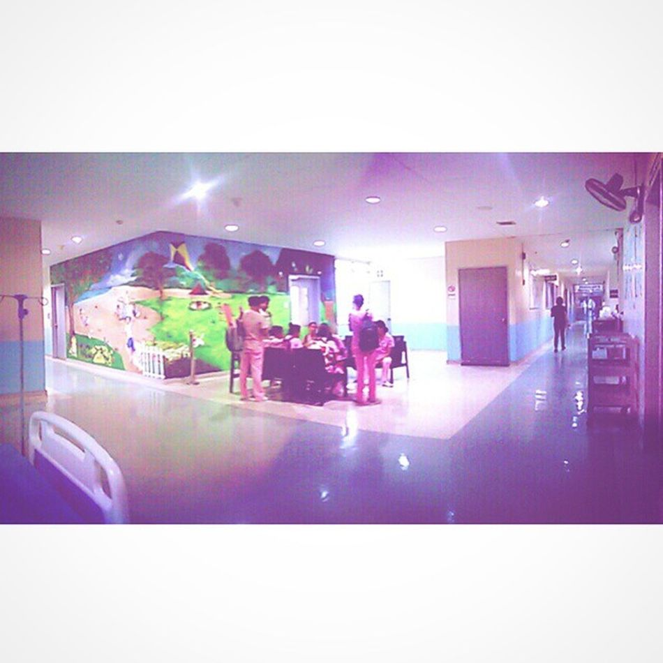 The sunniest place in SUMC . A place of innocence, hope, and love. I will surely miss this place. I came in with a stereotyped dislike for children, I left with a change of heart. I hope I will have Pediatrics as one of my rotations for next sem's IntensivePracticum . I will really miss this place. PediaRotation StudentNurses Nursing SUCN Blue Pink Green PhotoGrid