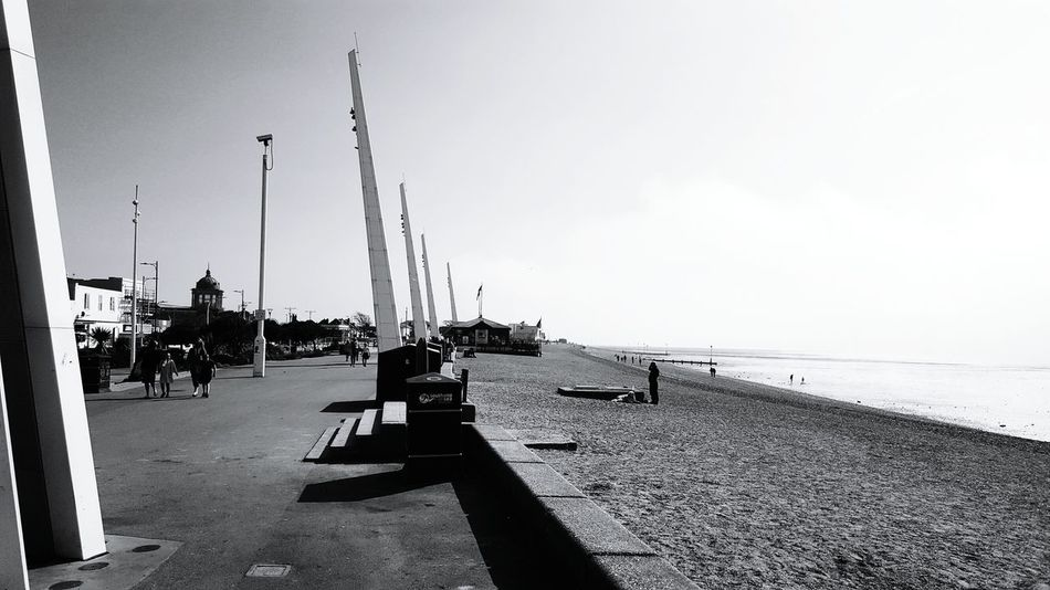 Beach Sea Sky Outdoors Black And White Photography Spring April Southend Seafront Southend Southend On Sea Seafront Seafront Views Taking Photos