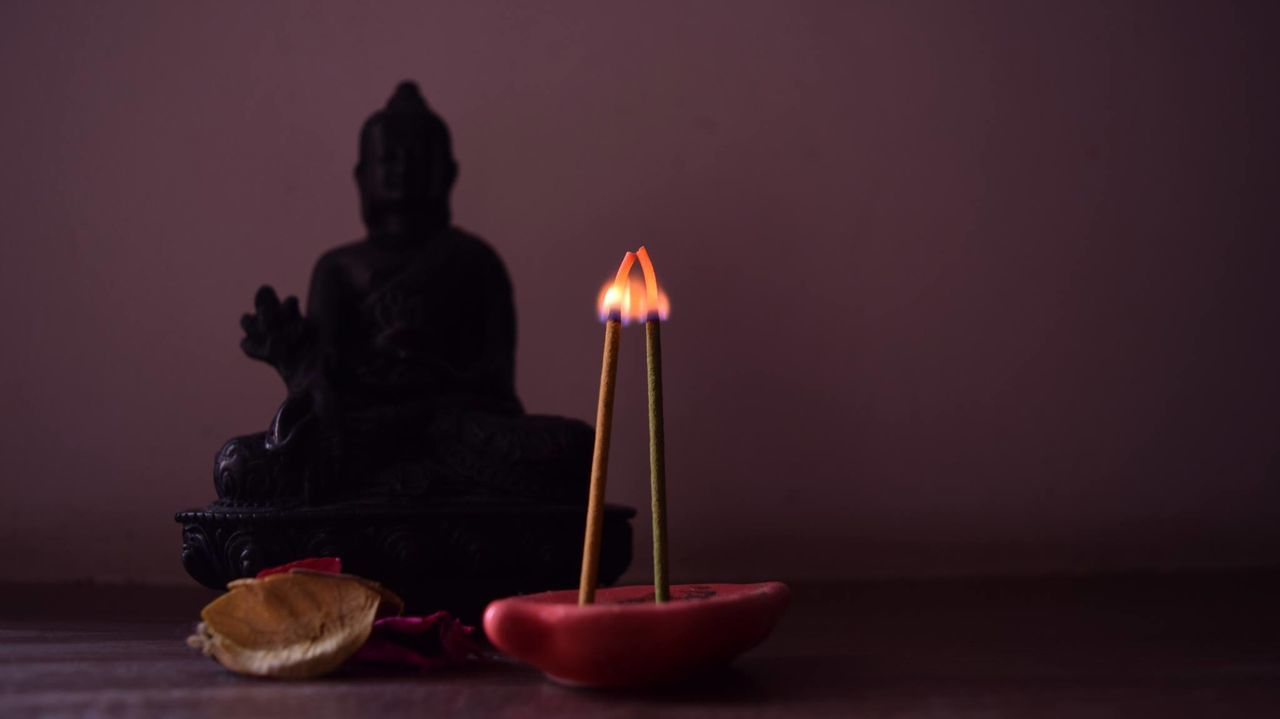 flame, burning, candle, no people, heat - temperature, table, indoors, red, close-up, illuminated, food, day