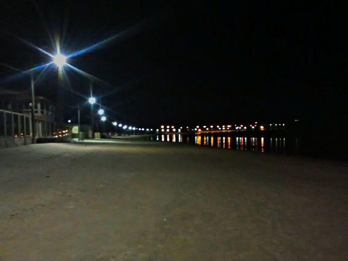 Walking Alone... Beach Light And Shadow