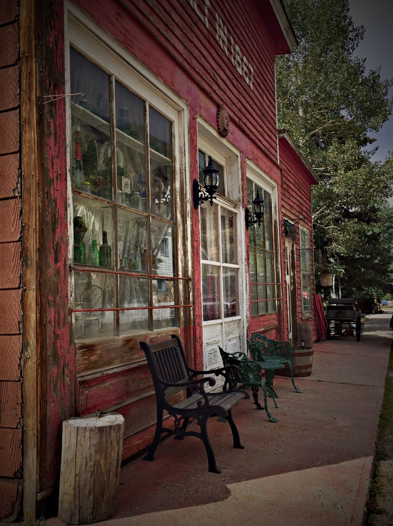 Not Park Bench Thursday Architecture Building Exterior Built Structure Empty Window Outdoors Outside No People Storefront Quaint  Georgetown, CO