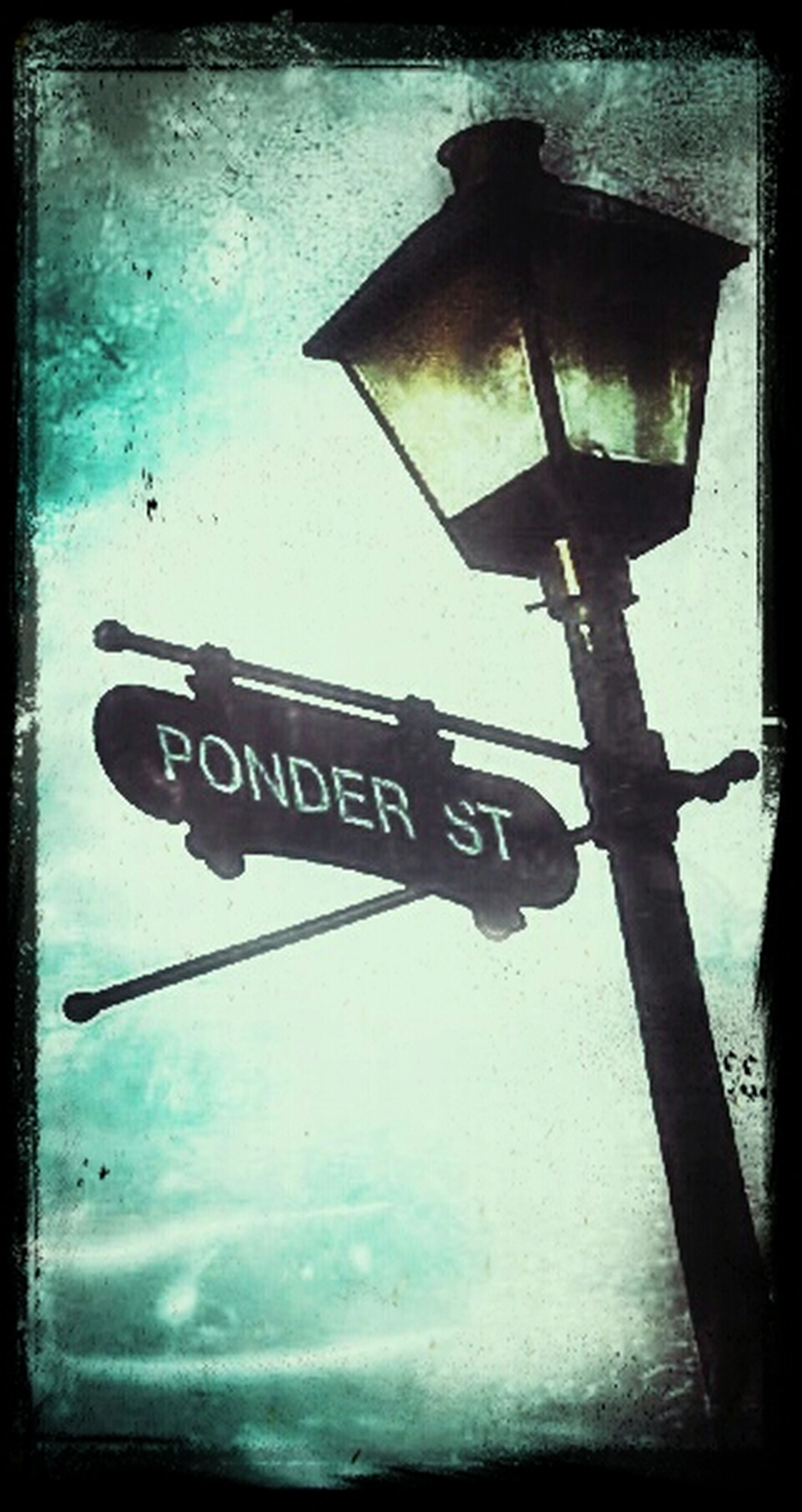 On this street I sit and wonder. Snapseed Sign's Got My Number Overedited That's Me