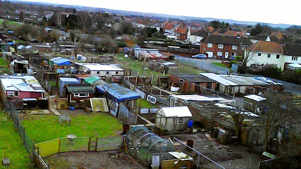 Arial View Built Structure Architecture Building Exterior No People Outdoors Day Building Terrace Sky Allotments