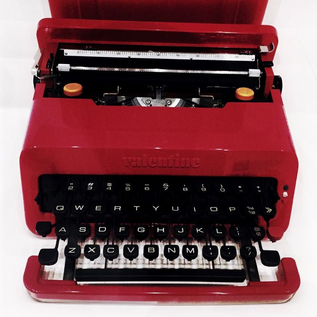 Red Vintage Typewriter in MOMA
