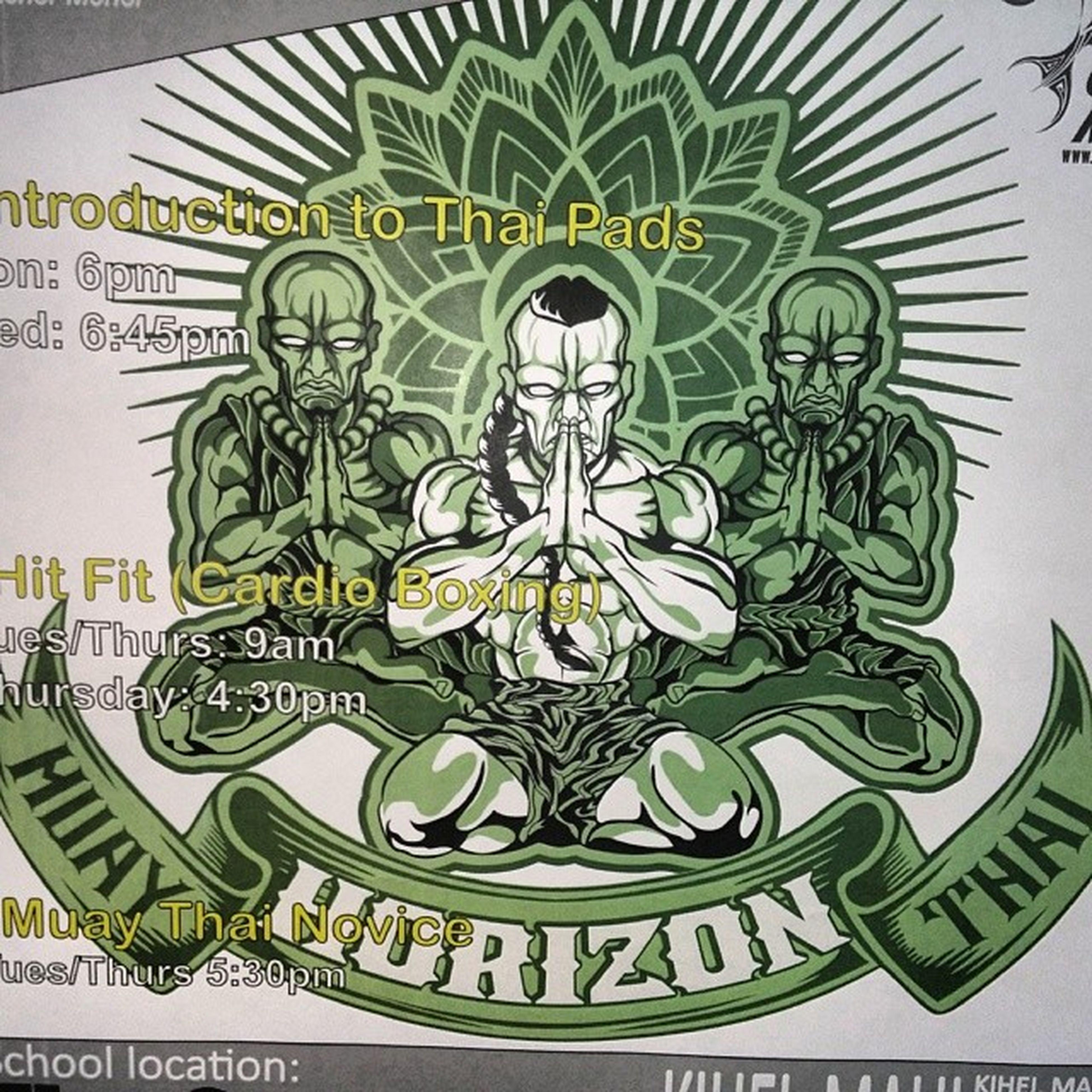 Put in another session HorizonMuayThai ArtOfEight Healthylife DoWorkUce OnThatVaiAiku