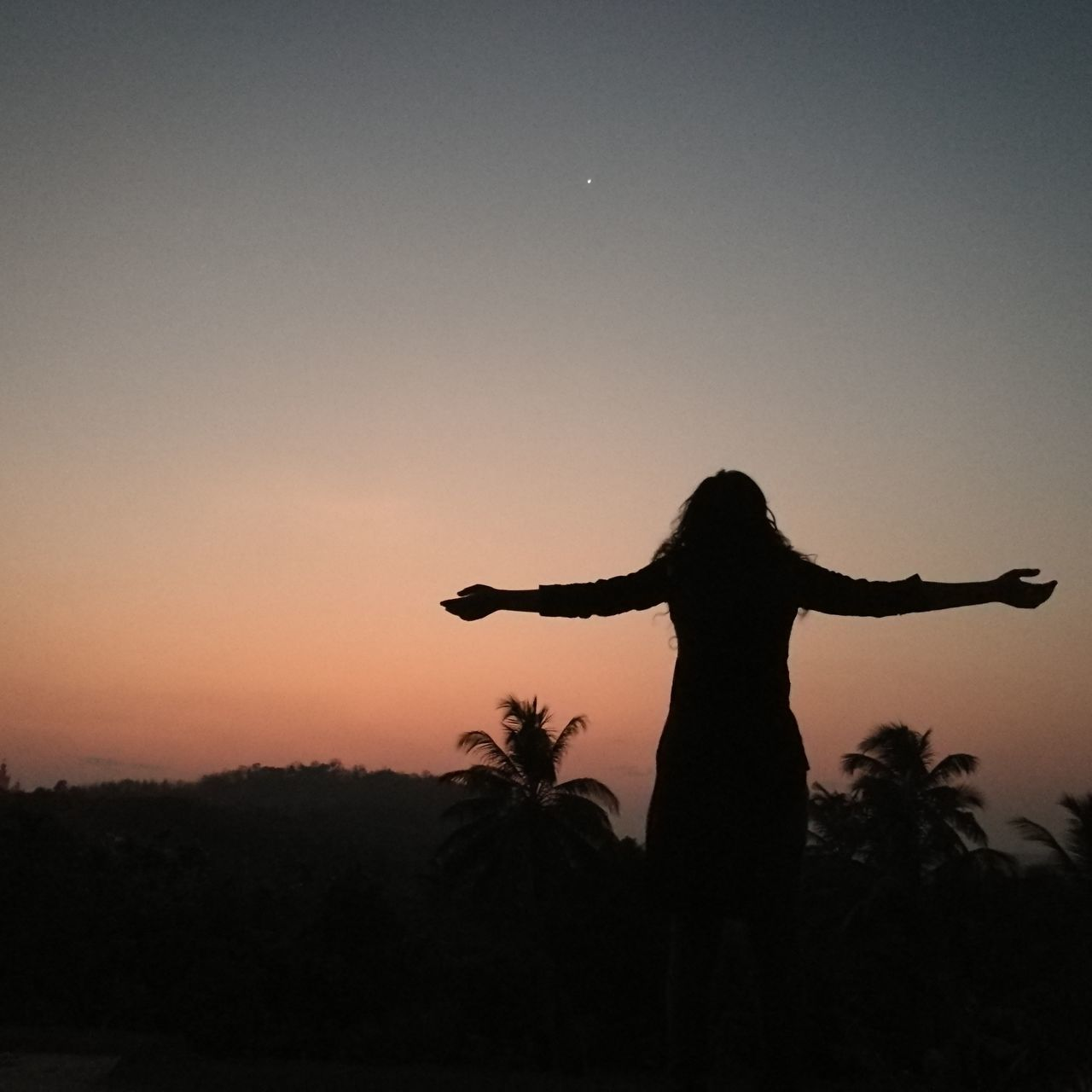 Follow Your Dreams Silhouette Sunset One Person Sky People Outdoors The City Light Still Life Eyemmarket Tranquil Scene Kerala