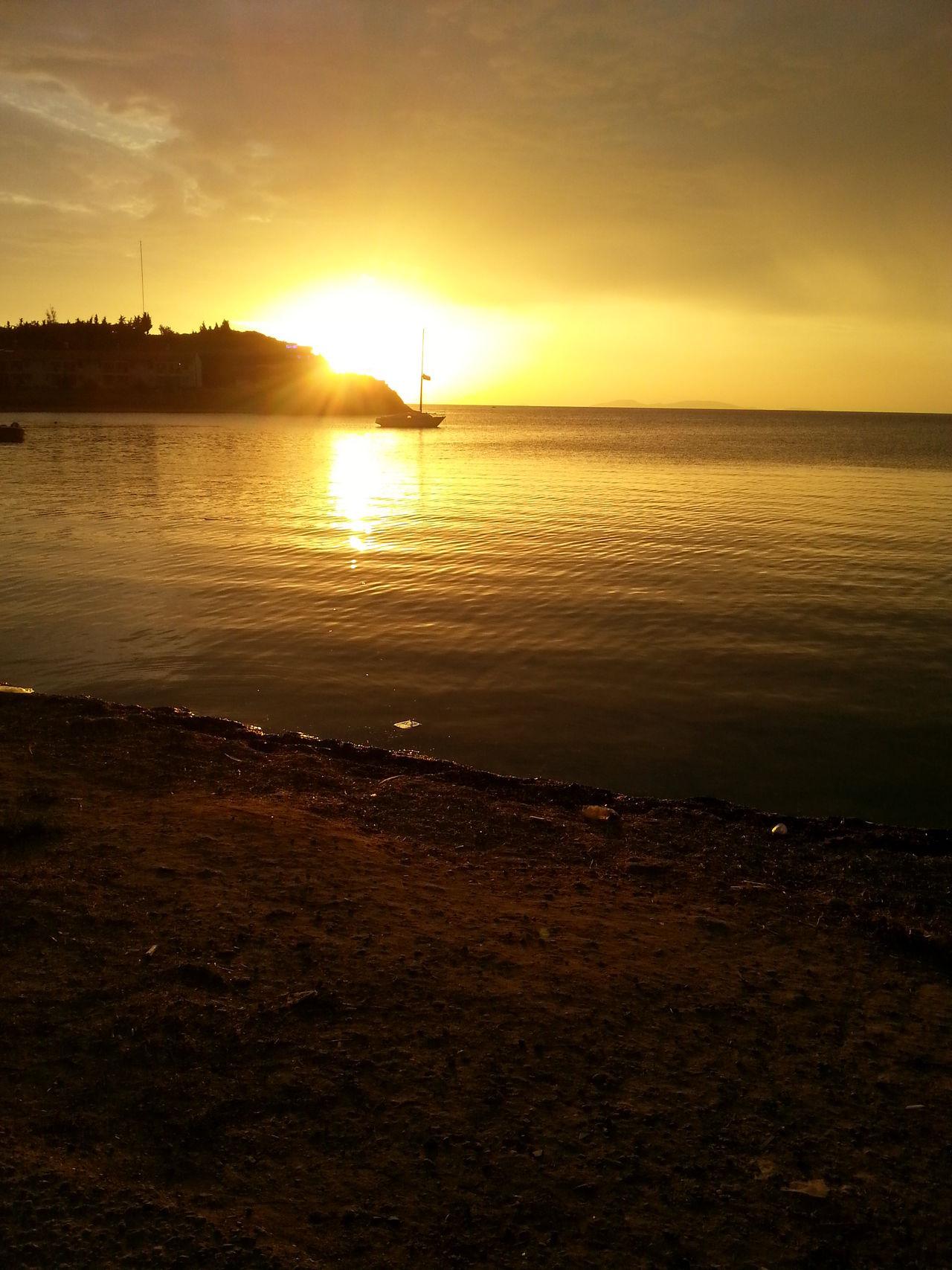 Sun Sunlight Sunfall Beach Sea Nofilter Noedit Turkey Aydin Aydin/Turkey Travel Amazing