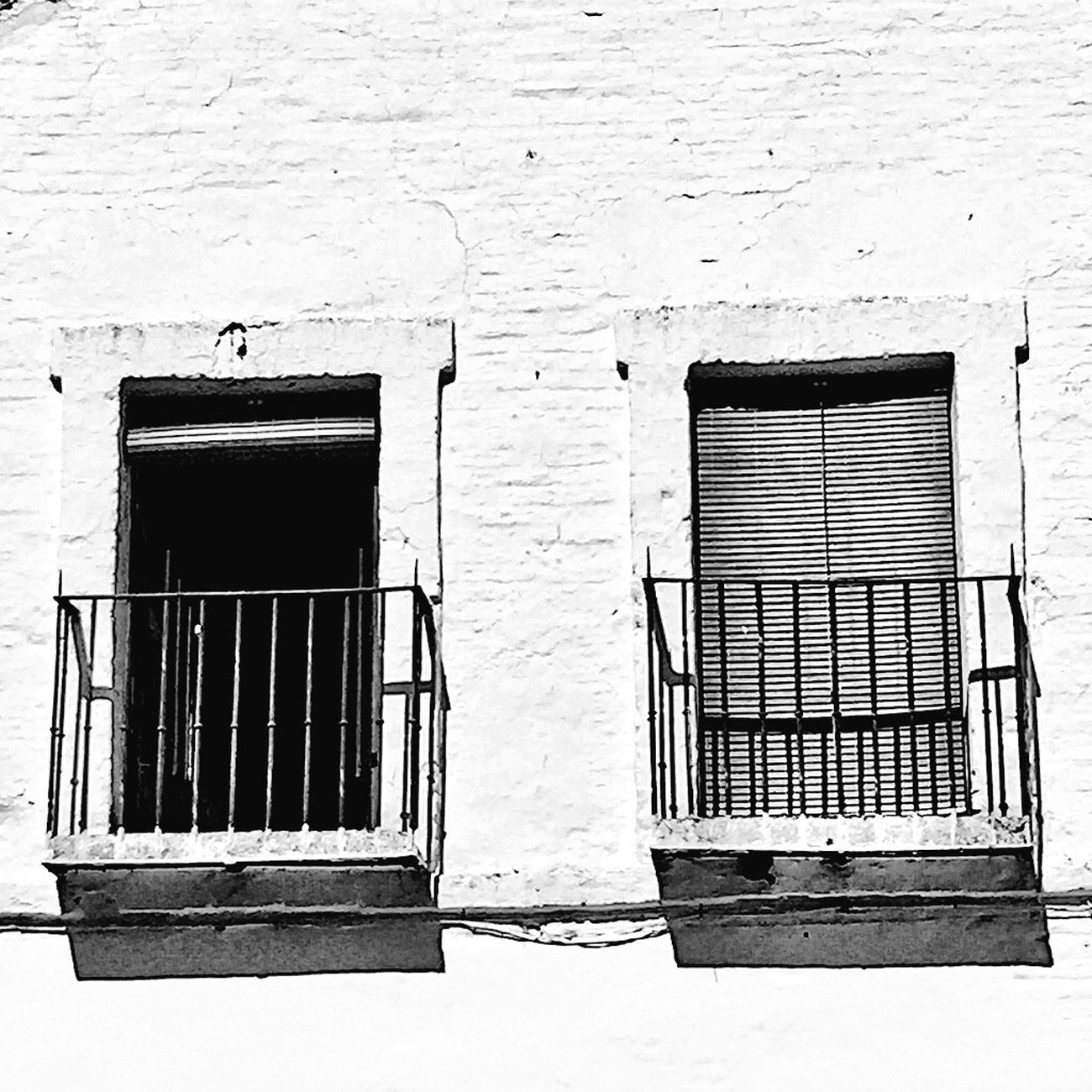 Balcones al sol Gerena EyeEm Best Shots Monochrome Streetphoto_bw Blackandwhite Bw_collection Black And White Urban Sevilla Arquitecture